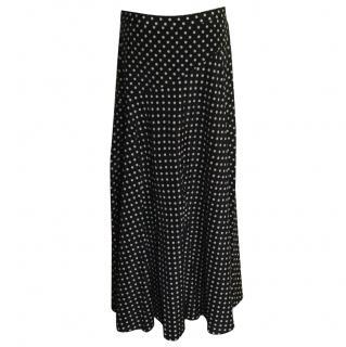 DKNY maxi polka dot skirt