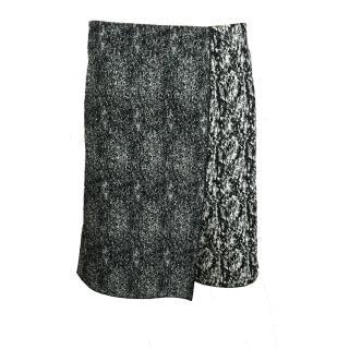 Celine Black and White Panel Skirt
