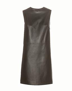 New Calvin Klein Collection Leather Cocktail Dress