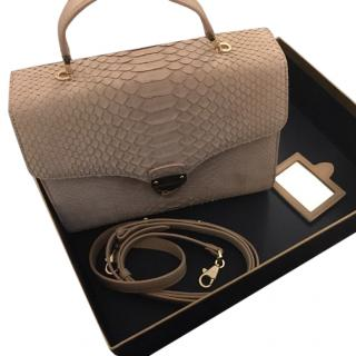 Aspinal Mayfair nubuck Python bag