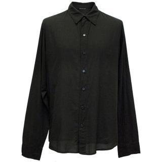 James Perse Black Lightweight Button Down Shirt