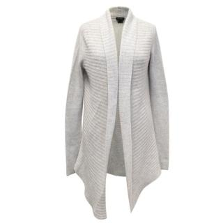 Theory Light Grey Cashmere Cardigan