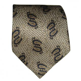 BOSS Beige and black tie