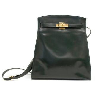 Hermes Deep Green So Kelly 1988 Sport Bag With Gold Hardware