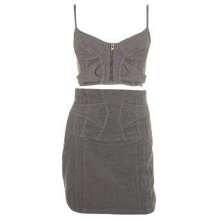 Sass & Bide Denim Bralette Top and Skirt