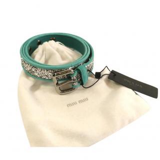 Miu Miu Glitter Belt