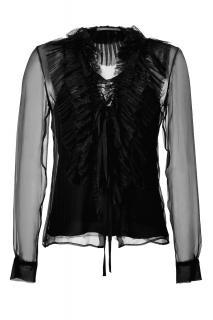Alberta Ferretti Women's Black Silk Top & Camisole