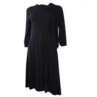 Viktor & Rolf Long Sleeve Black Dress Asymmetrical
