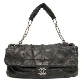 Chanel Black Quilted Origami Calfskin Flap Bag