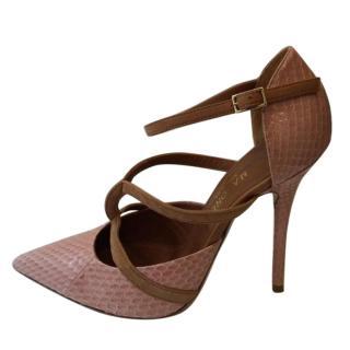Malone Souliers snake skin heels