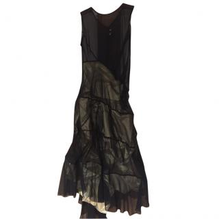 Junya Watanabe, comme des garcons black and gold dress