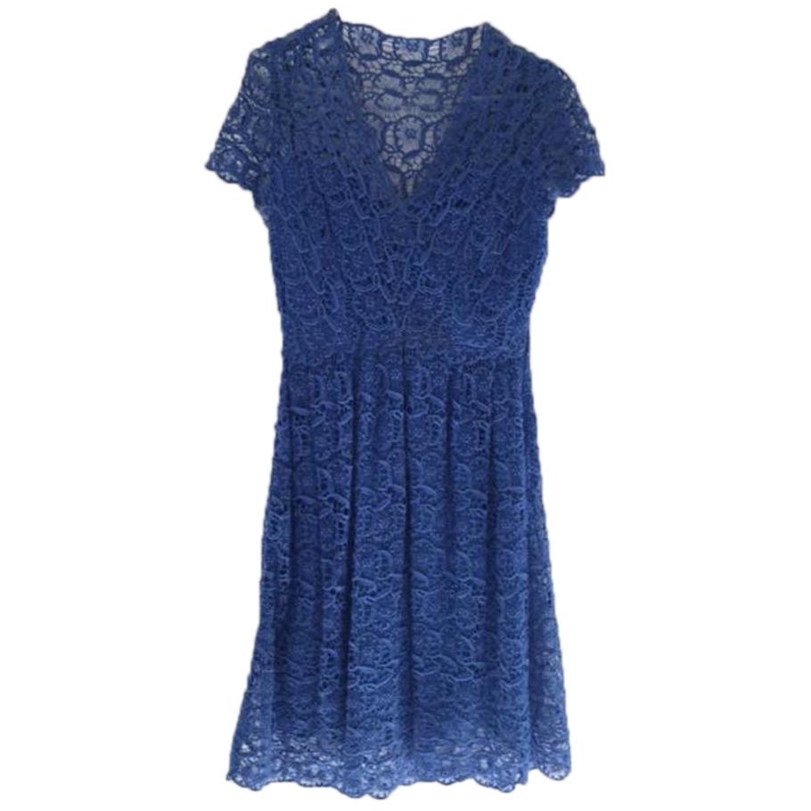 Collette by Collette Dinnigan Blue Lace Dress