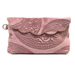 Mathew Williamson Pink Pony Hair Clutch