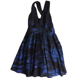 Nicole Miller Black/Blue Cocktail Dress