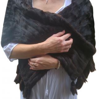 Vntage dark brown mink cope/ stole / wrap