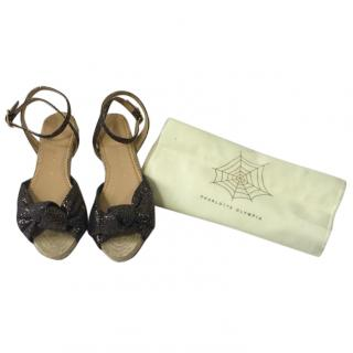 Charlotte Olympia Marina Glitter Sandals