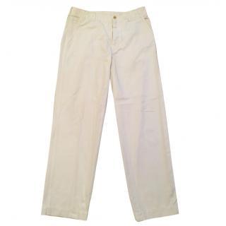 Prada white trousers
