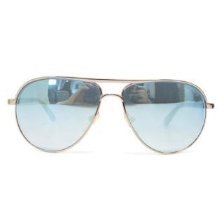 Tom Ford 'Marko' Silver Aviator Sunglasses