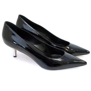 Manolo Blahnik Black Patent 'Maldiva 50' Pointy Pumps