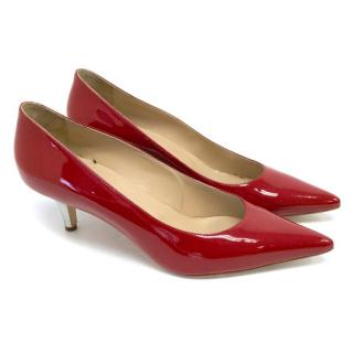 Manolo Blahnik Red Patent 50 Pumps