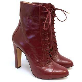 Bionda Castana Red Lace Up Heel Boots