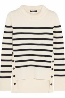 Alexander McQueen striped merino wool sweater