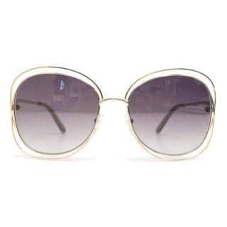 Chloe 'Carlina' Sunglasses With Silver Frame
