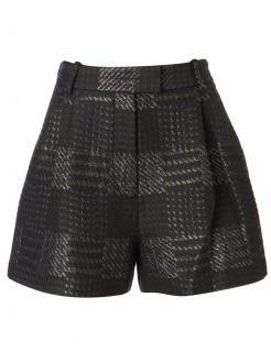 3.1 Phillip Lim army metallic houndstooth wide bermuda shorts