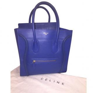 Royal blue Celine luggage bag