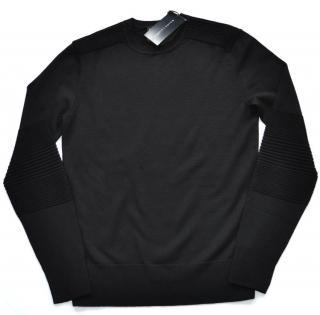 Ralph Lauren Black Label men's black merino wool jumper