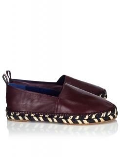 Proenza Schouler Burgundy Leather Espadrilles 36