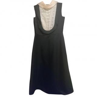 RED Valentino Sleeveless Midi/Formal Dress, Black, Size S