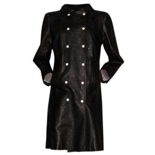 Courreges black vinyl coat