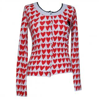 JC de Castelbajac Heart Cardigan Size UK 10 IT 42