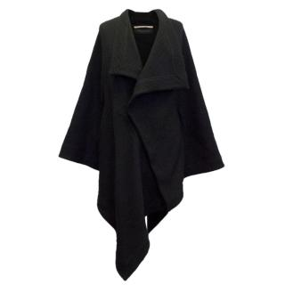 Roland Mouret Black Cape With Optional zip Up Sleeves