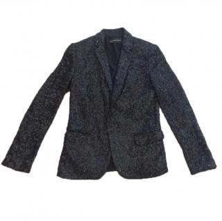 Zadig & Voltaire Black Sequin Jacket