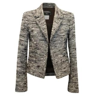 Chanel Black And White Tweed Jacket A/W 04