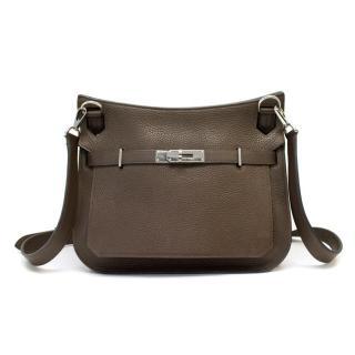Hermes Brown 'Jypsiere' Bag With Palladium Hardware