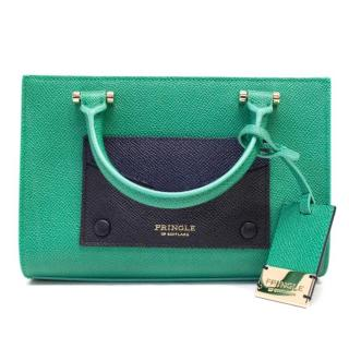 Pringle Coated Canvas Green And Navy Mini Bag