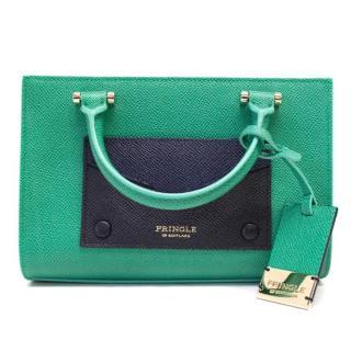 Pringle Coated Canvas Green And Navy Mini Bag