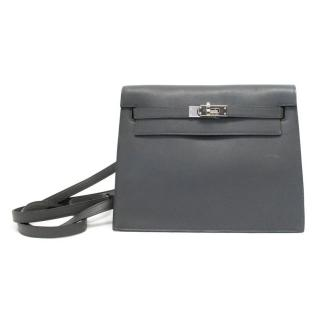 Hermes Danse Kelly Bag In Grey With Palladium Hardware