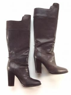 Ralph Lauren Collection brown high leather boots