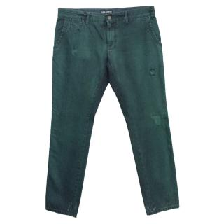 Dolce and Gabbana Teal Straight Leg Jeans