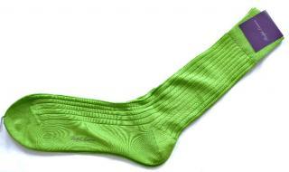 Ralph Lauren Purple Label Rib-Knit Cotton Trouser Socks