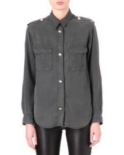 Maje Astrid NAVY BLUE Military Shirt