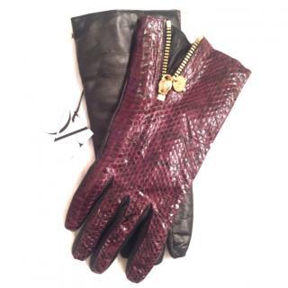 DVF snake skin gloves