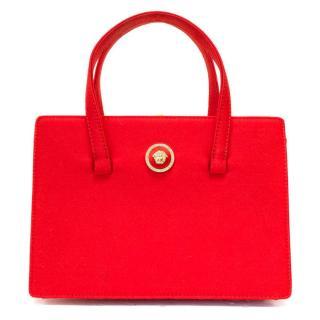 Versace Red Satin Evening Bag
