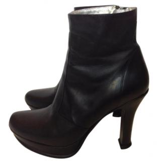 Free Lance black leather ankle boots