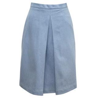 Osman Blue Denim A-line Skirt