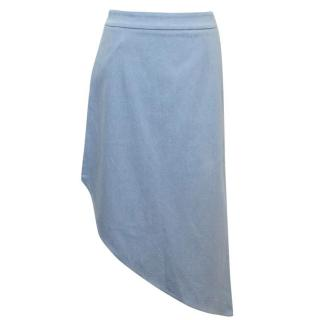 Osman Blue Asymmetric Denim Skirt